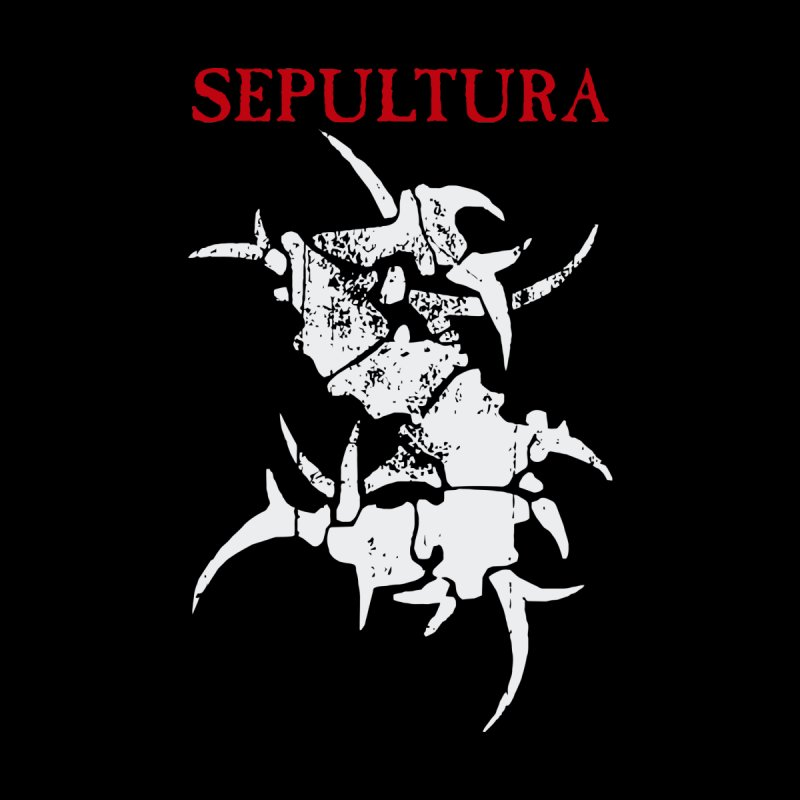 Sepultura logo T Shirts Men's T-Shirt by Metal Gods Shop