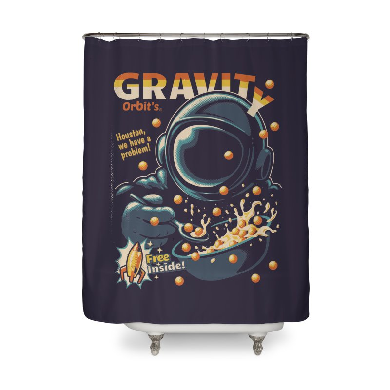 Houston, We Have A Problem Home Shower Curtain by metalsan's Artist Shop