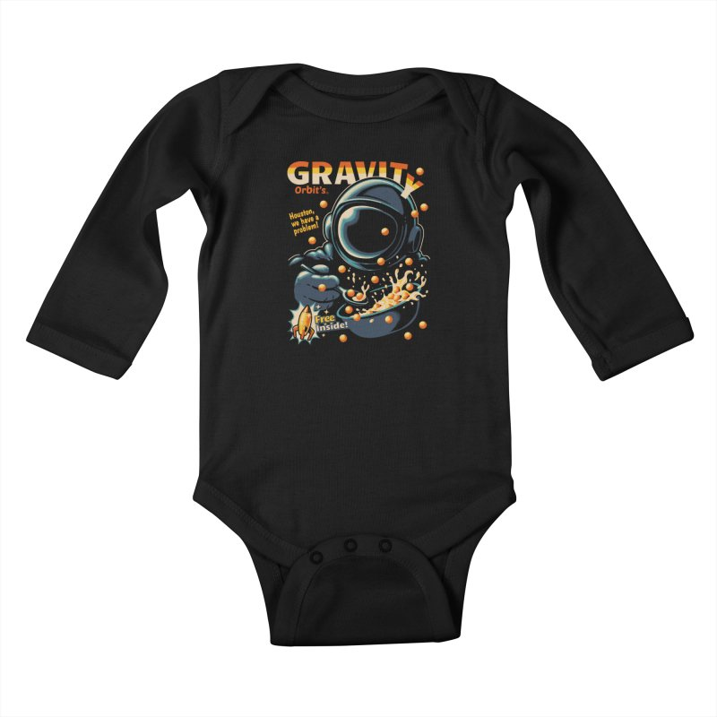 Houston, We Have A Problem Kids Baby Longsleeve Bodysuit by Santiago Sarquis's Artist Shop