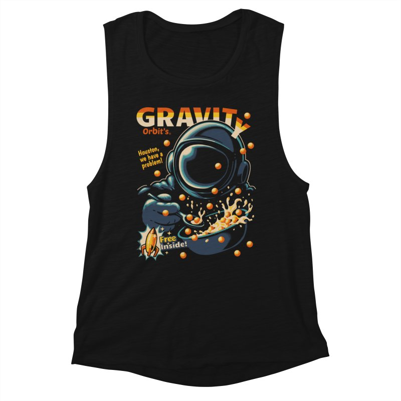 Houston, We Have A Problem Women's Muscle Tank by Santiago Sarquis's Artist Shop