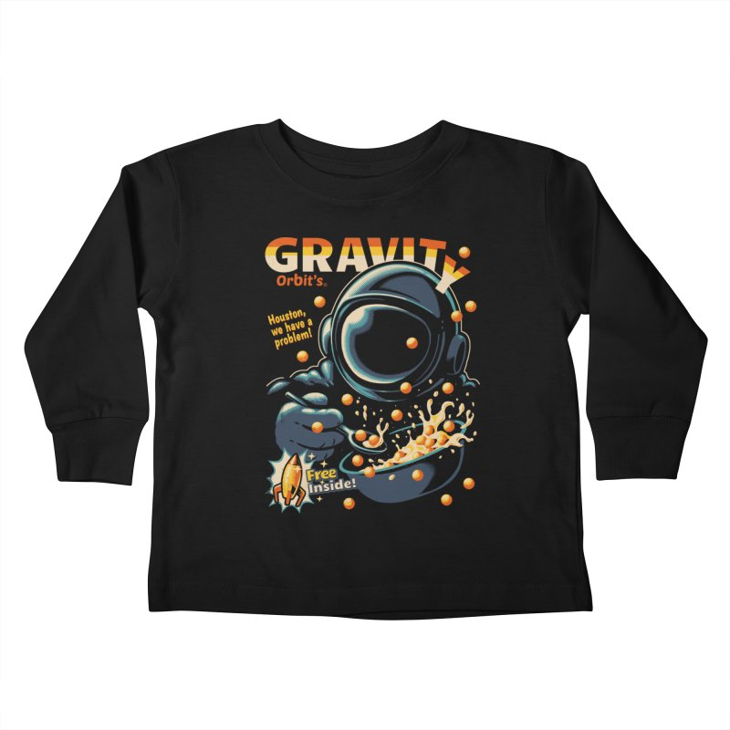 Houston, We Have A Problem Kids Toddler Longsleeve T-Shirt by Santiago Sarquis's Artist Shop
