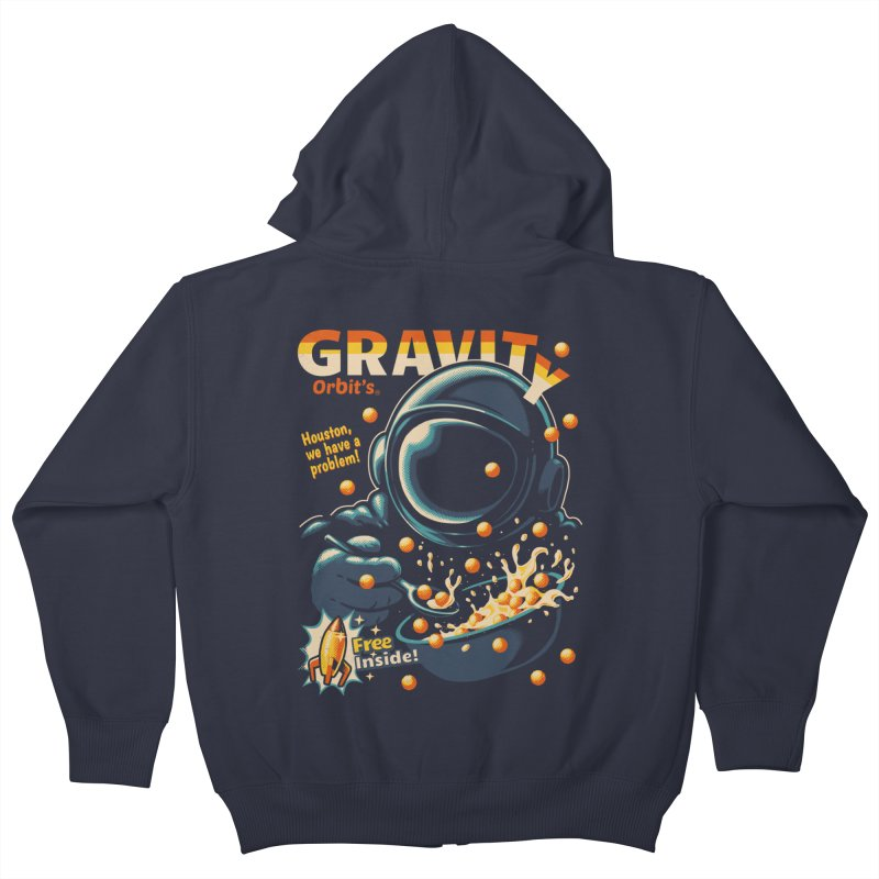 Houston, We Have A Problem Kids Zip-Up Hoody by metalsan's Artist Shop
