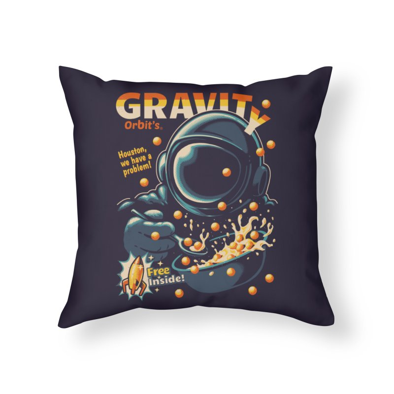 Houston, We Have A Problem Home Throw Pillow by Santiago Sarquis's Artist Shop