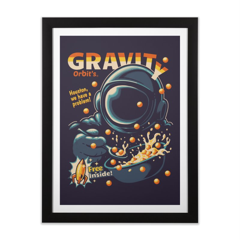 Houston, We Have A Problem Home Framed Fine Art Print by Santiago Sarquis's Artist Shop