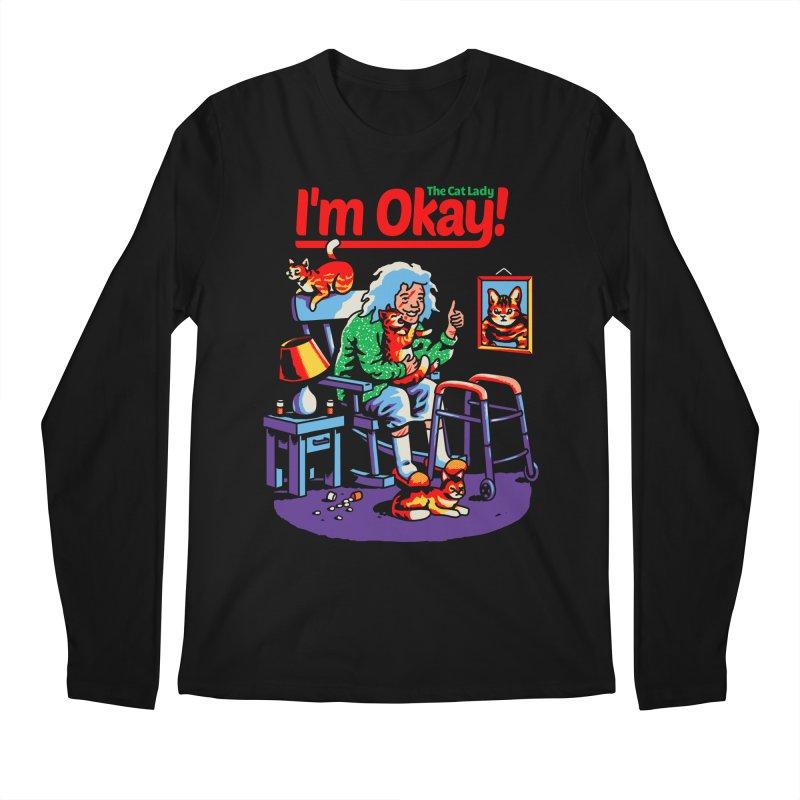 I'm Okay: The Cat Lady Men's Longsleeve T-Shirt by Santiago Sarquis's Artist Shop