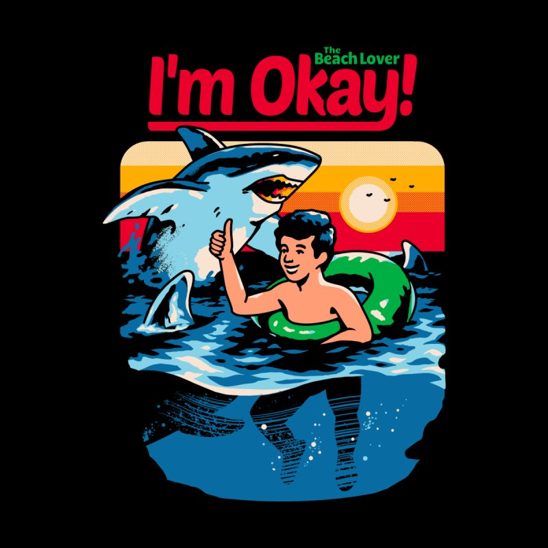 I'm Okay: The Beach Lover Men's V-Neck by Santiago Sarquis's Artist Shop
