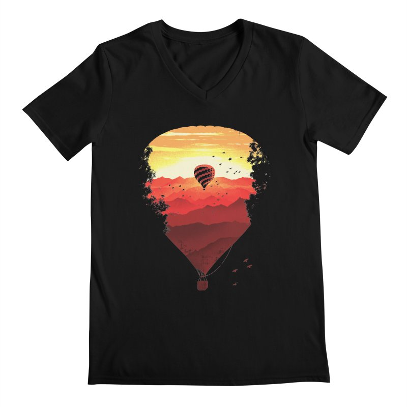 Journey Men's V-Neck by Santiago Sarquis's Artist Shop