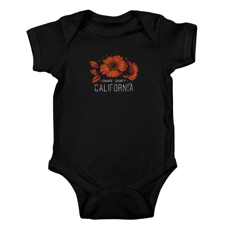 Las Flores Kids Baby Bodysuit by Santiago Sarquis's Artist Shop