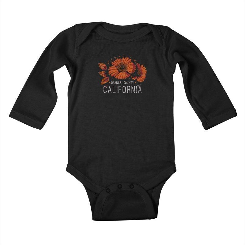 Las Flores Kids Baby Longsleeve Bodysuit by Santiago Sarquis's Artist Shop