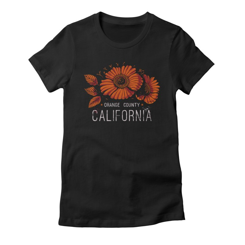 Las Flores Women's Fitted T-Shirt by metalsan's Artist Shop