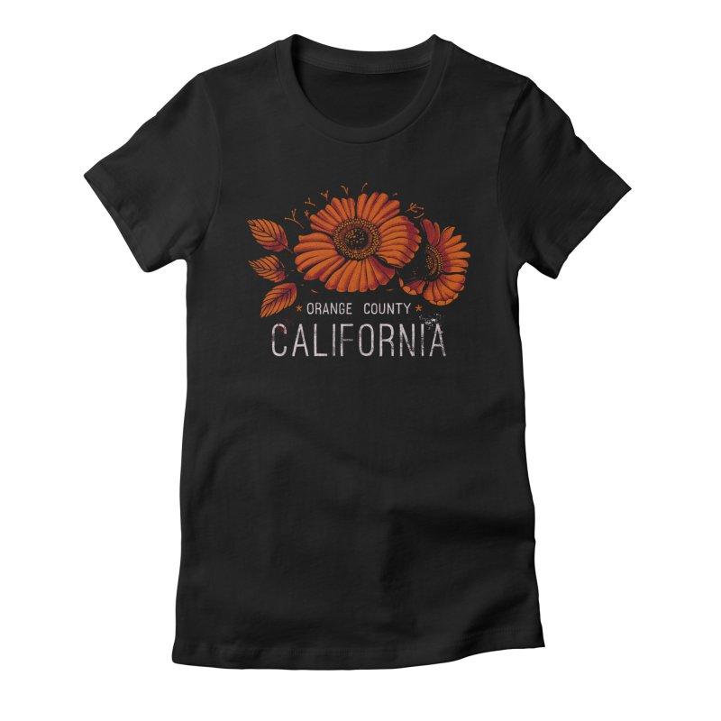 Las Flores Women's Fitted T-Shirt by Santiago Sarquis's Artist Shop