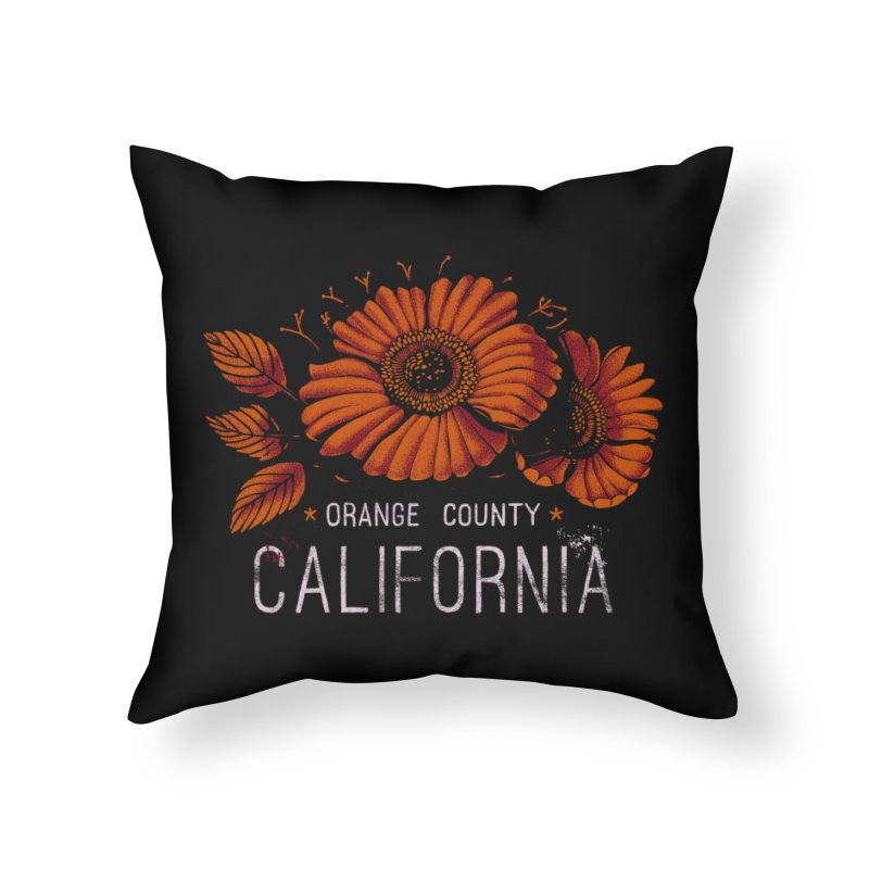 Las Flores Home Throw Pillow by Santiago Sarquis's Artist Shop