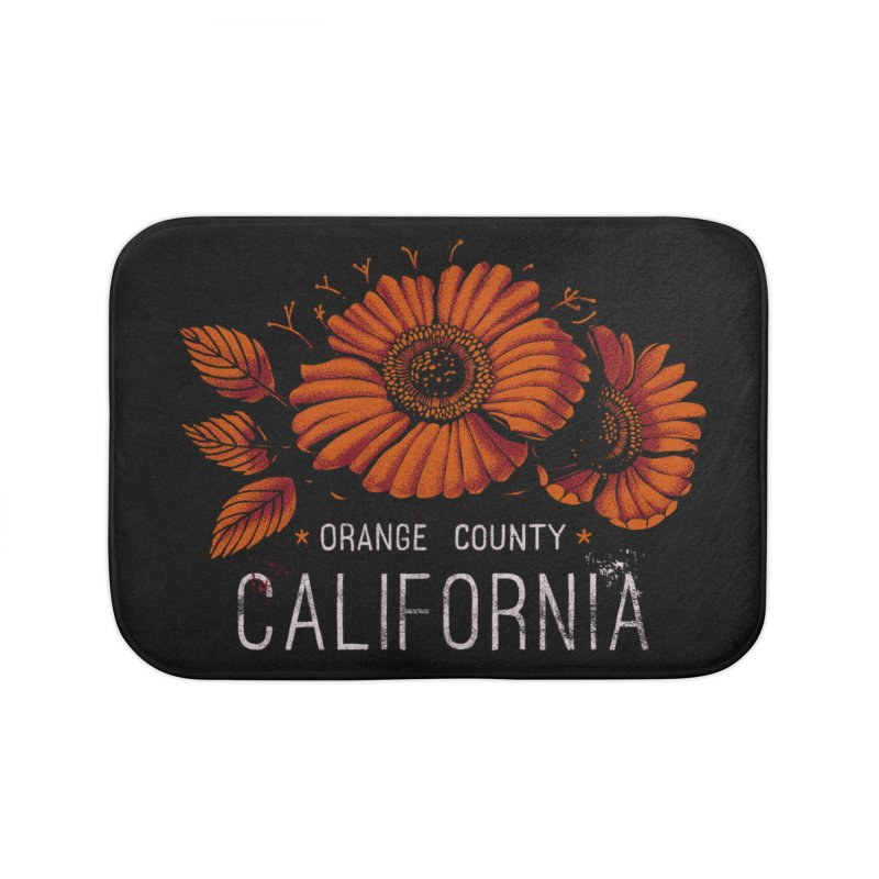Las Flores Home Bath Mat by metalsan's Artist Shop