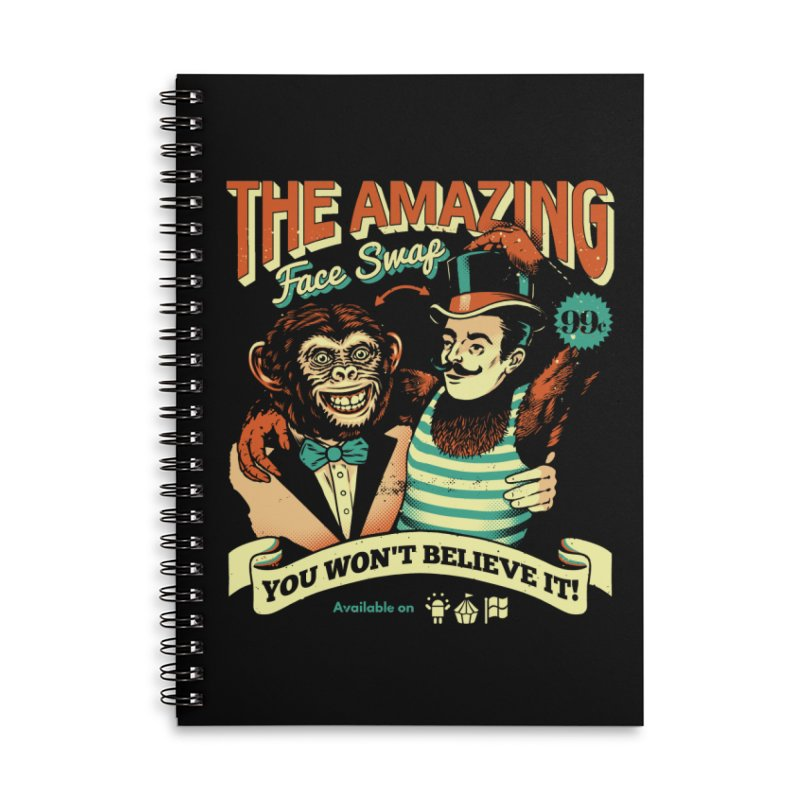 The Amazing Face Swap Accessories Notebook by Santiago Sarquis's Artist Shop