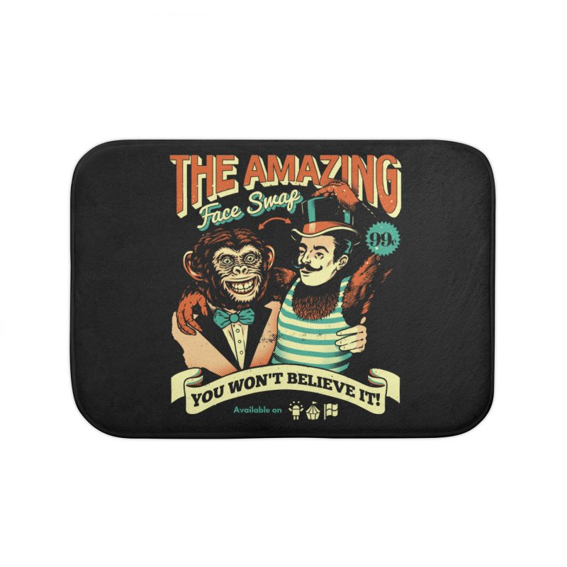 The Amazing Face Swap Home Bath Mat by Santiago Sarquis's Artist Shop
