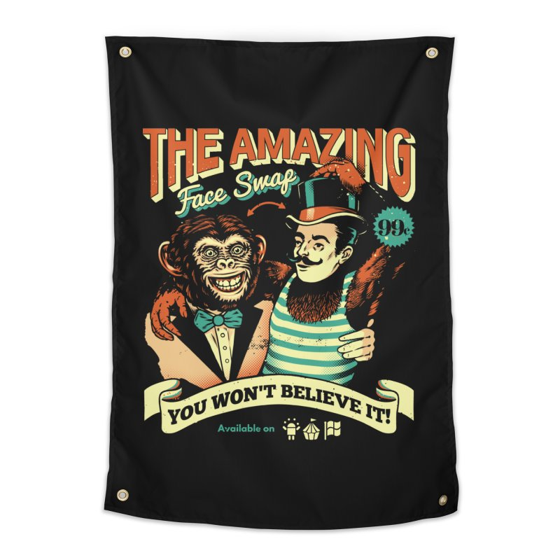 The Amazing Face Swap Home Tapestry by Santiago Sarquis's Artist Shop