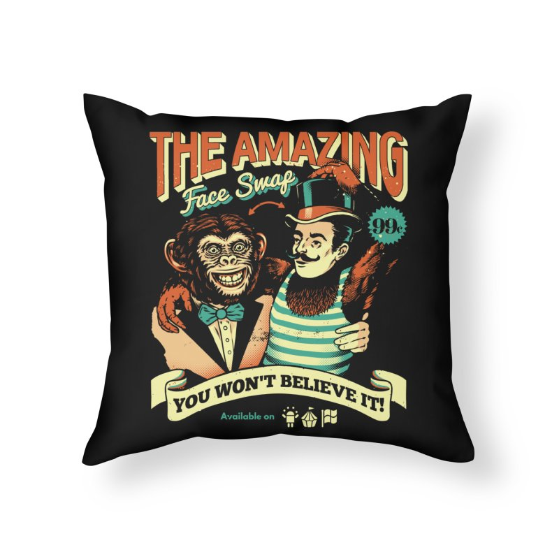 The Amazing Face Swap Home Throw Pillow by Santiago Sarquis's Artist Shop