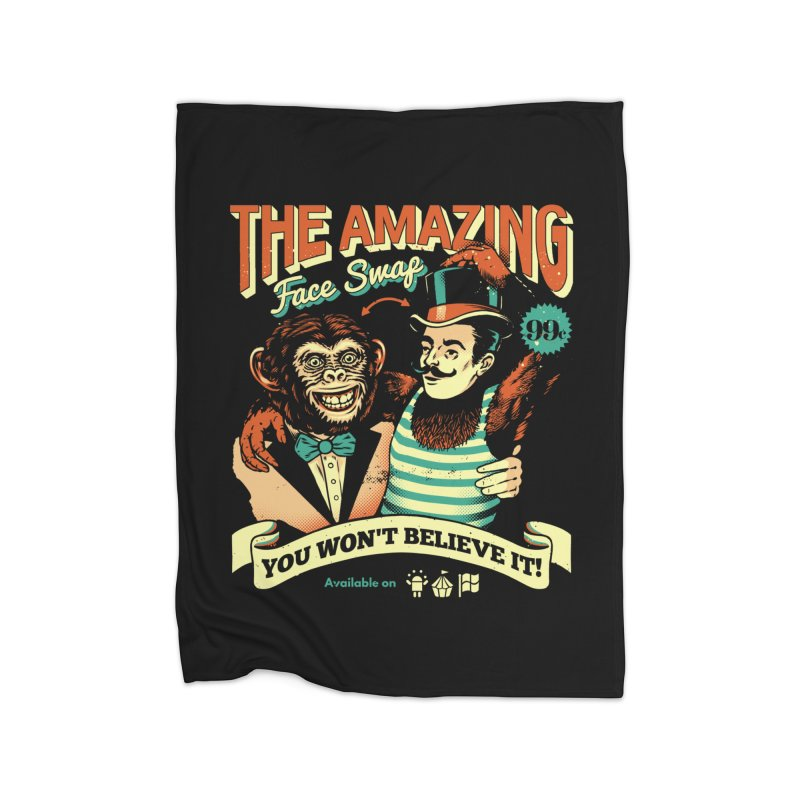 The Amazing Face Swap Home Blanket by metalsan's Artist Shop