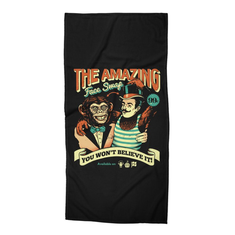The Amazing Face Swap Accessories Beach Towel by Santiago Sarquis's Artist Shop