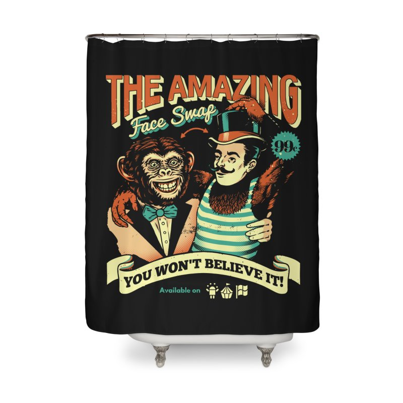 The Amazing Face Swap Home Shower Curtain by metalsan's Artist Shop
