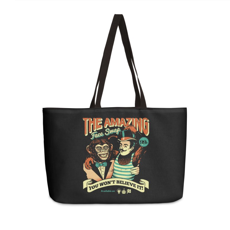 The Amazing Face Swap Accessories Weekender Bag Bag by Santiago Sarquis's Artist Shop