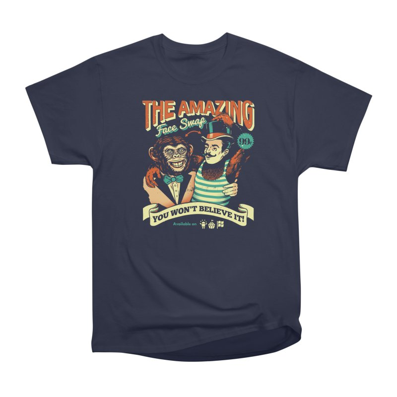 The Amazing Face Swap Men's Heavyweight T-Shirt by Santiago Sarquis's Artist Shop