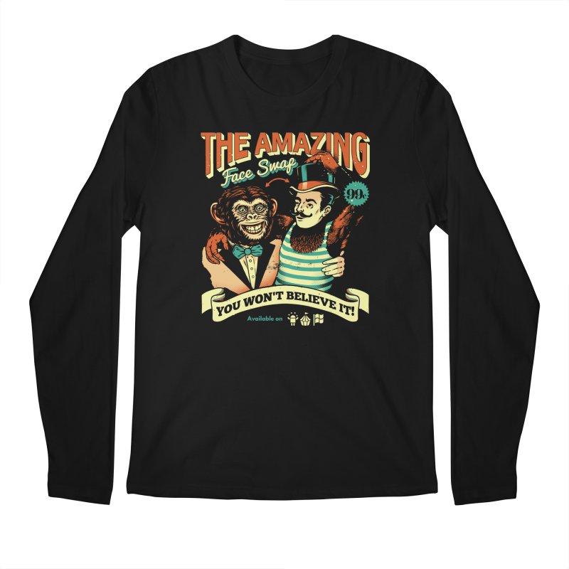 The Amazing Face Swap Men's Longsleeve T-Shirt by metalsan's Artist Shop