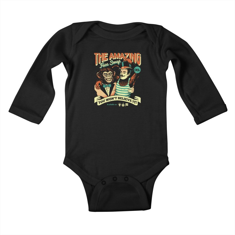 The Amazing Face Swap Kids Baby Longsleeve Bodysuit by Santiago Sarquis's Artist Shop