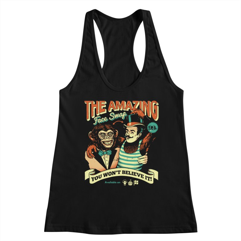 The Amazing Face Swap Women's Tank by Santiago Sarquis's Artist Shop