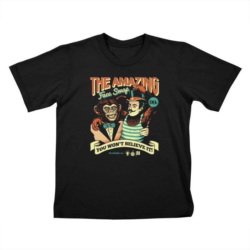 The Amazing Face Swap Kids T-Shirt by Santiago Sarquis's Artist Shop