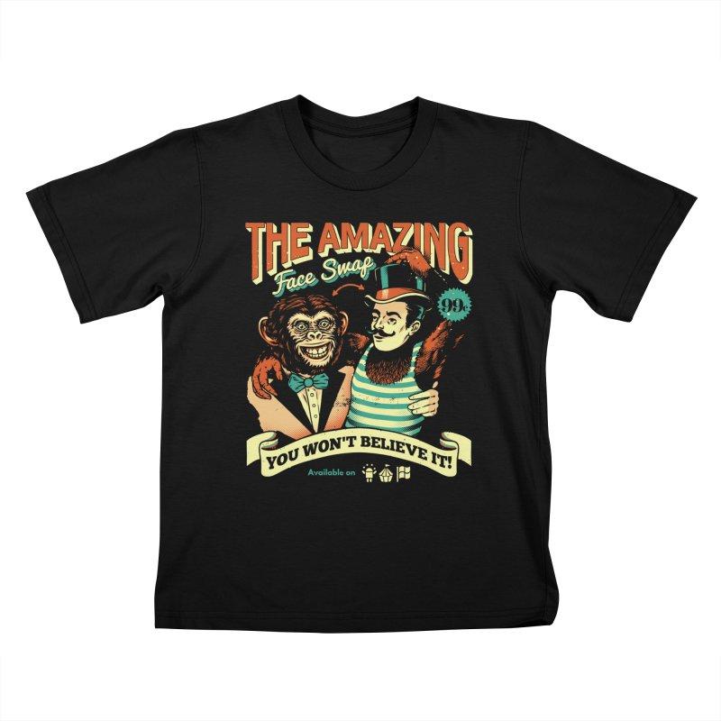 The Amazing Face Swap Kids T-shirt by metalsan's Artist Shop