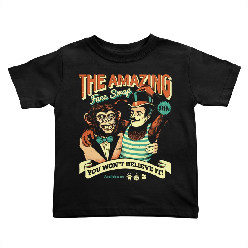 The Amazing Face Swap Kids Toddler T-Shirt by Santiago Sarquis's Artist Shop