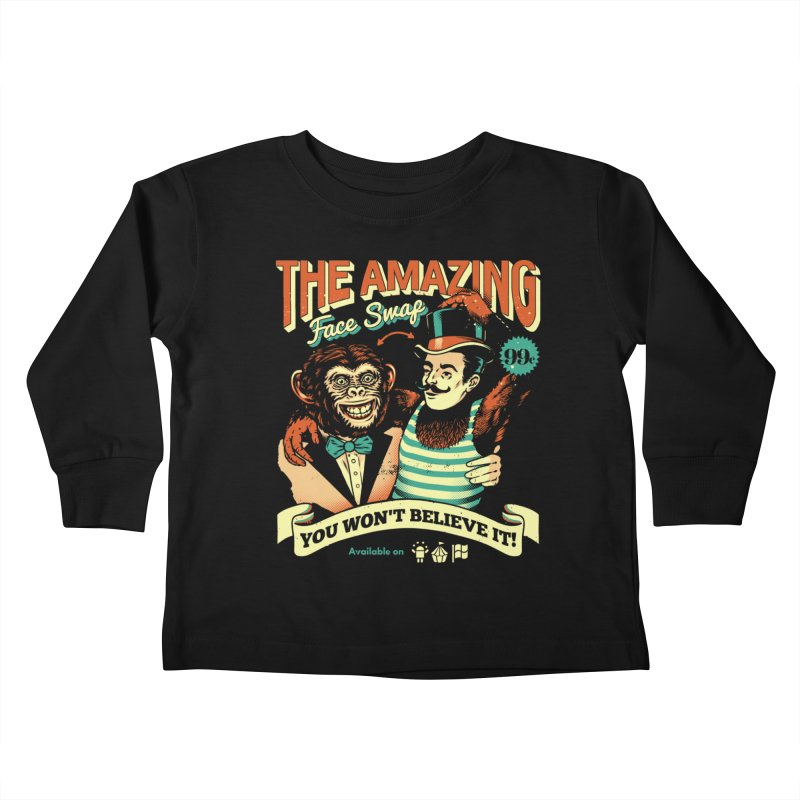 The Amazing Face Swap Kids Toddler Longsleeve T-Shirt by Santiago Sarquis's Artist Shop