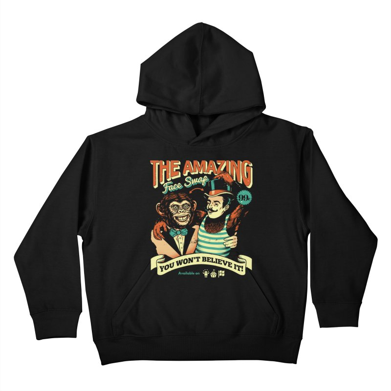 The Amazing Face Swap Kids Pullover Hoody by Santiago Sarquis's Artist Shop
