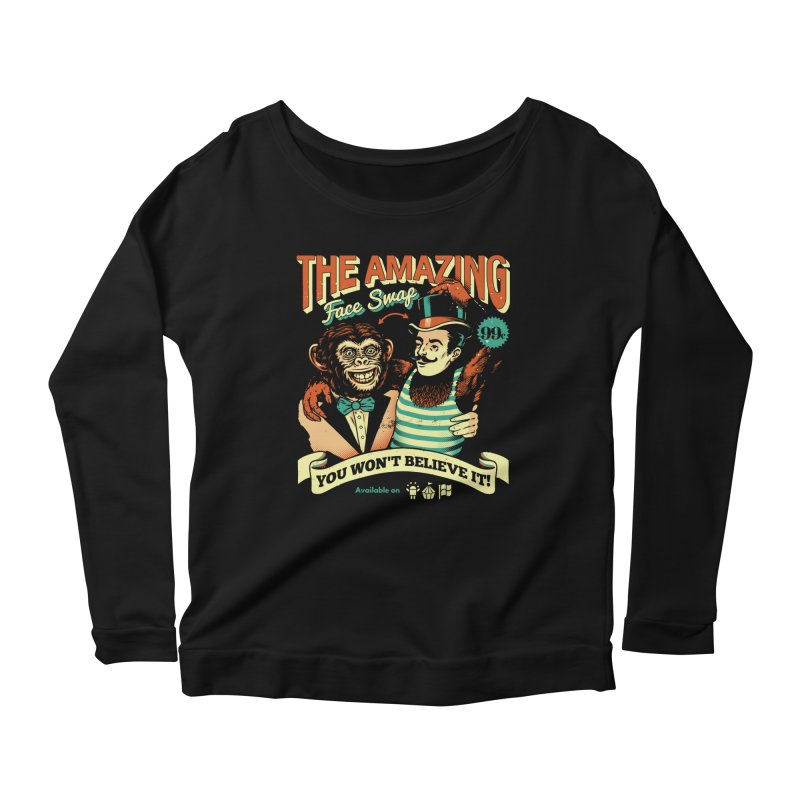 The Amazing Face Swap Women's Longsleeve Scoopneck  by Santiago Sarquis's Artist Shop
