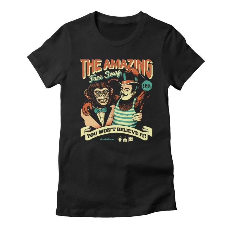 The Amazing Face Swap Women's T-Shirt by Santiago Sarquis's Artist Shop