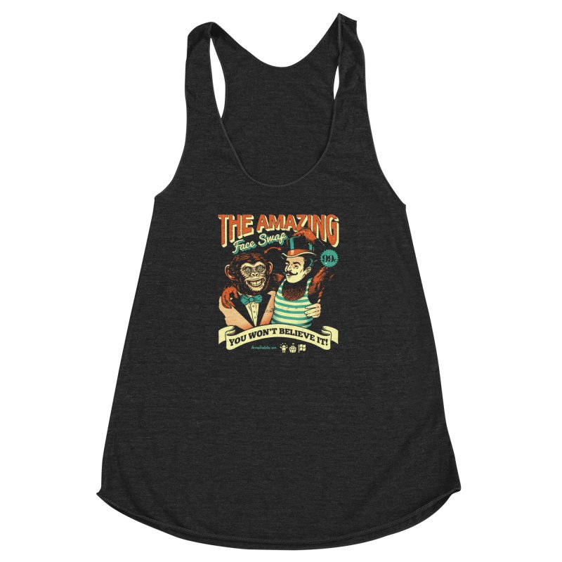 The Amazing Face Swap Women's Racerback Triblend Tank by metalsan's Artist Shop
