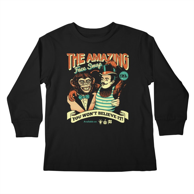The Amazing Face Swap Kids Longsleeve T-Shirt by Santiago Sarquis's Artist Shop