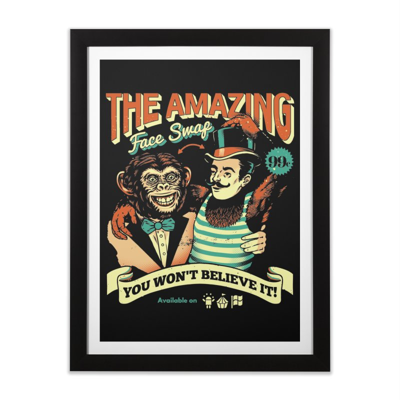 The Amazing Face Swap Home Framed Fine Art Print by Santiago Sarquis's Artist Shop