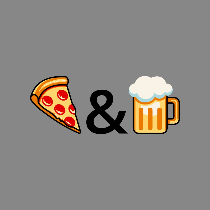 Pizza and Beer Accessories Beach Towel by Santiago Sarquis's Artist Shop