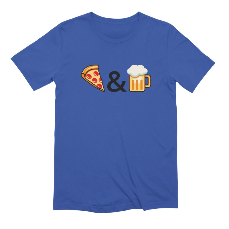 Pizza and Beer Men's Extra Soft T-Shirt by Santiago Sarquis's Artist Shop