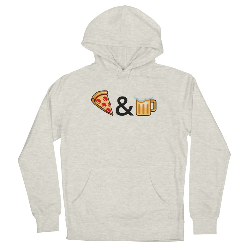 Pizza and Beer Women's French Terry Pullover Hoody by Santiago Sarquis's Artist Shop