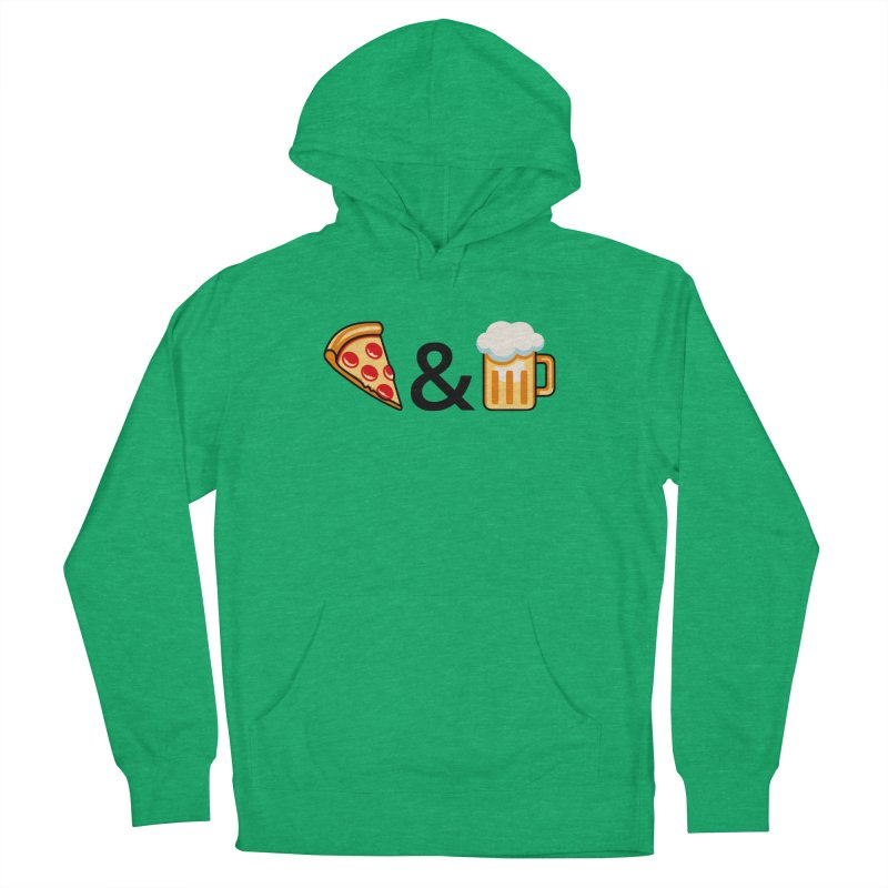 Pizza and Beer Men's Pullover Hoody by Santiago Sarquis's Artist Shop