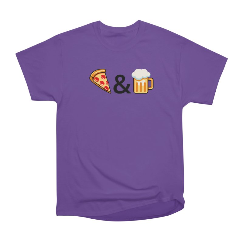 Pizza and Beer Women's Heavyweight Unisex T-Shirt by Santiago Sarquis's Artist Shop