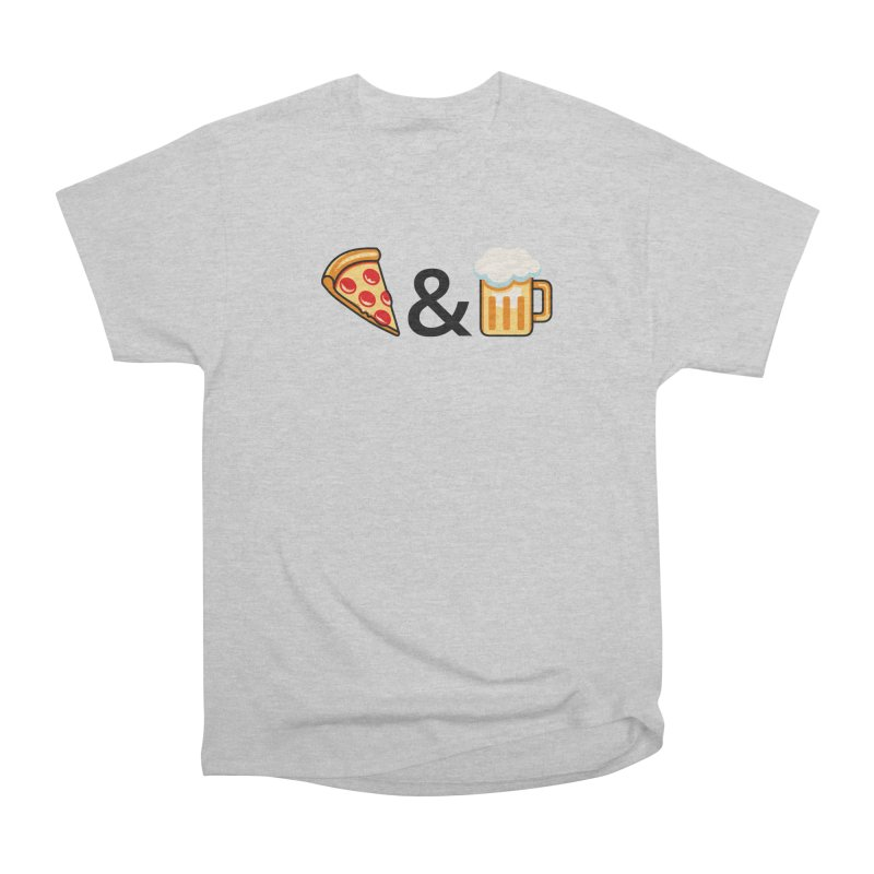Pizza and Beer Women's Classic Unisex T-Shirt by Santiago Sarquis's Artist Shop