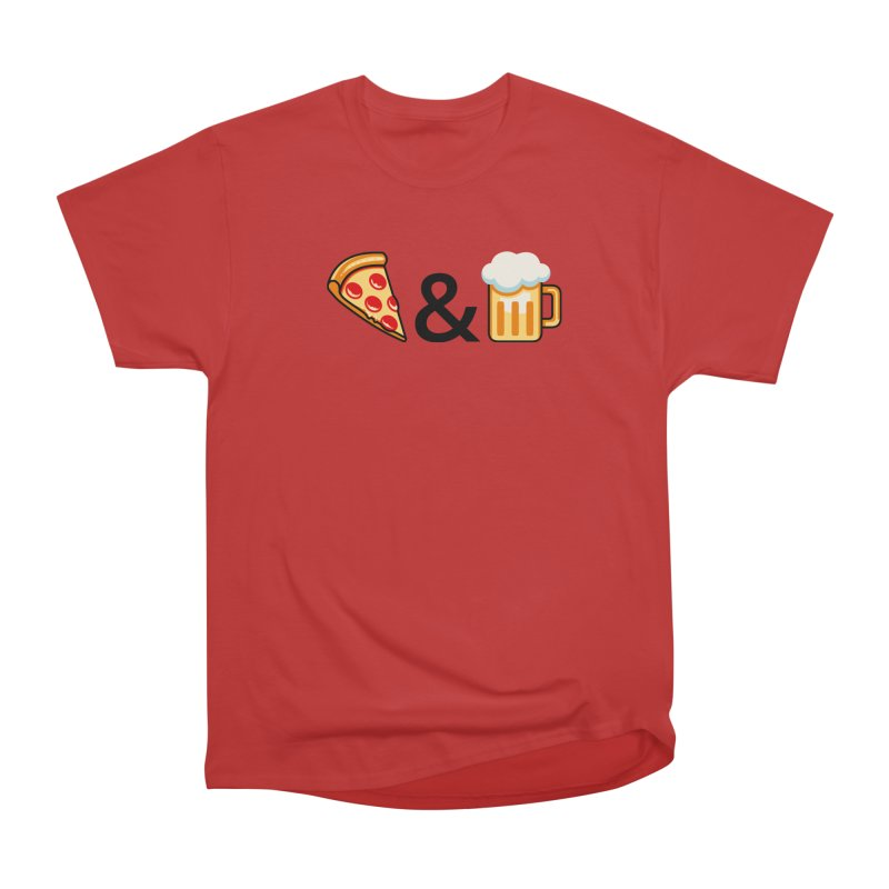Pizza and Beer Men's Classic T-Shirt by Santiago Sarquis's Artist Shop