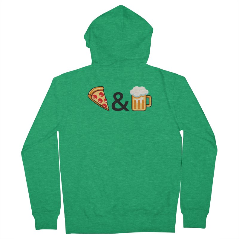 Pizza and Beer Men's Zip-Up Hoody by Santiago Sarquis's Artist Shop