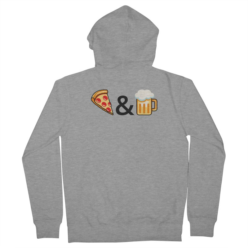 Pizza and Beer Men's Zip-Up Hoody by metalsan's Artist Shop