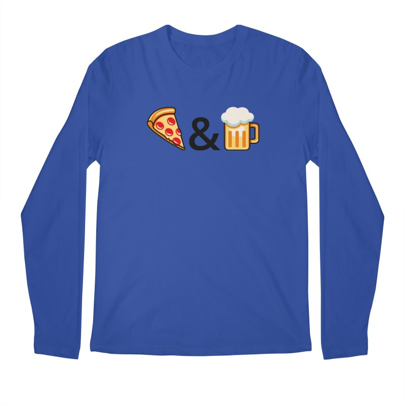 Pizza and Beer Men's Longsleeve T-Shirt by Santiago Sarquis's Artist Shop