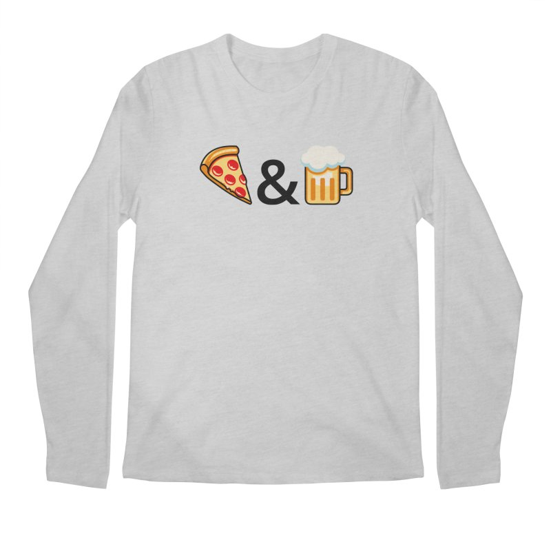 Pizza and Beer Men's Longsleeve T-Shirt by metalsan's Artist Shop
